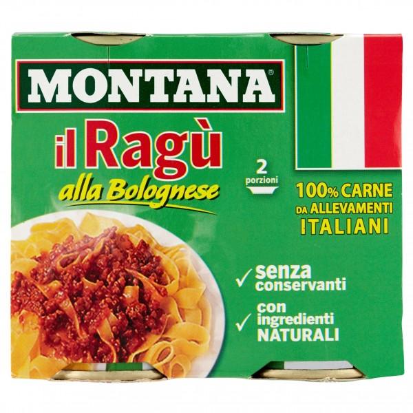 MONTANA RAGU' BOLOGNESE CONFEZIONE DA 2 PER 180 GR