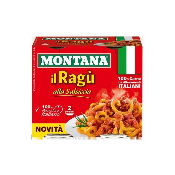 MONTANA RAGU' SALSICCIA CONFEZIONE DA 2 PER 180 GR