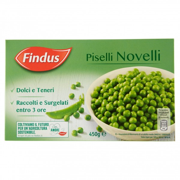 FINDUS PISELLI NOVELLI 450 g
