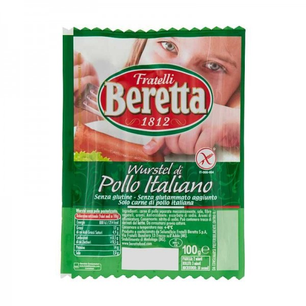 BERETTA WURSTEL POLLO GR 100