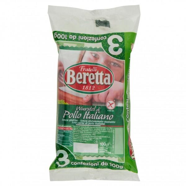 BERETTA WURSTEL POLLO 100 gX3