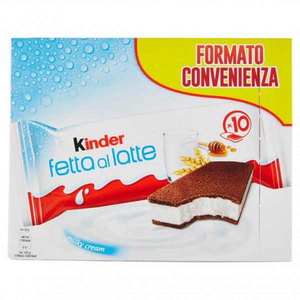 FERRERO KINDER FETTA AL LATTE CONFEZIONE DA 10