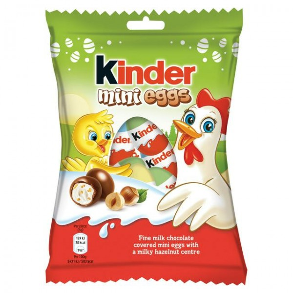 FERRERO KINDER MINI EGGS DARK 150 GR