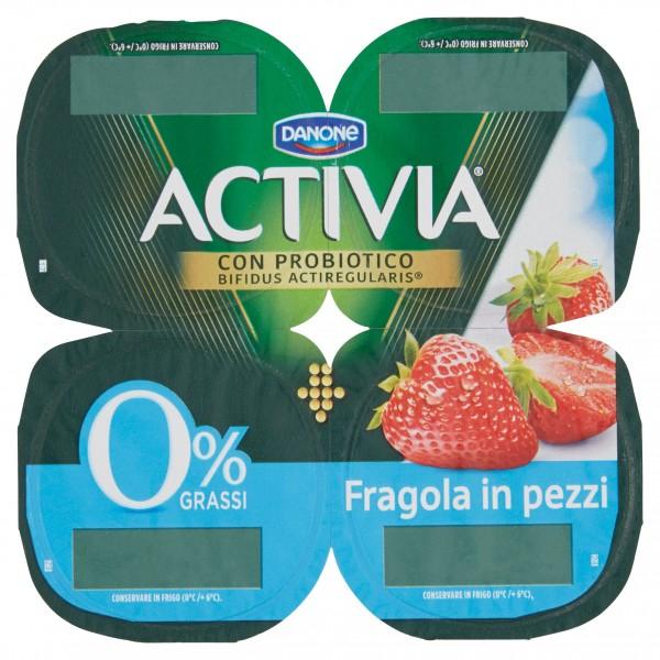 ACTIVIA 0% FRAGOLA GR.125X4