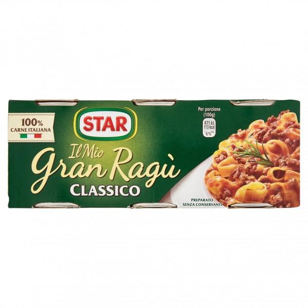 STAR RAGU' TRIS CLASSICO CONFEZIONE DA 3 PER 100 GR
