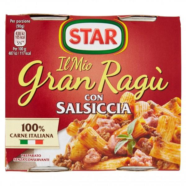 STAR GRANRAGU' SALSICCIA CONFEZIONE DA 2 PER 180 GR