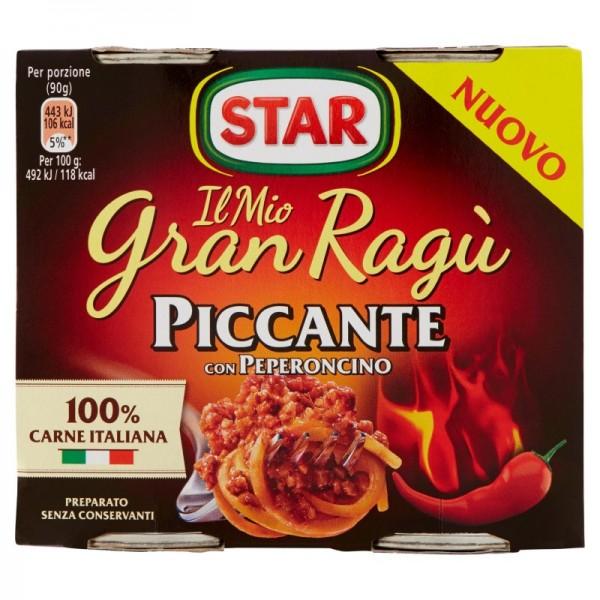 STAR GRAN RAGU' PICCANTE CONFEZIONE DA 2 PER 180 GR