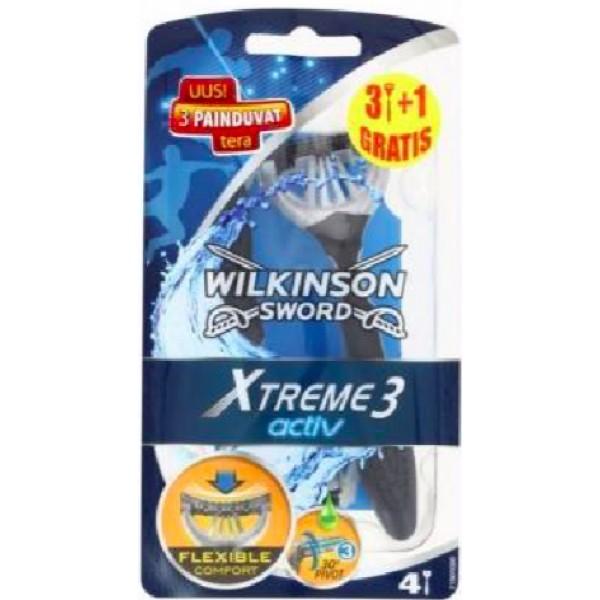 WILKINSON XTREME 3 ACTIVE CONFEZIONE DA  3+1