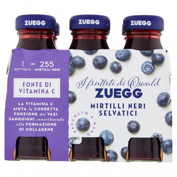 ZUEGG SUCCHI MIRTILLO 6X125ML*