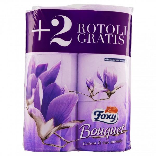 FOXY CARTA IGIENICA PROFUMO BOUQUET 4 ROTOLO +2