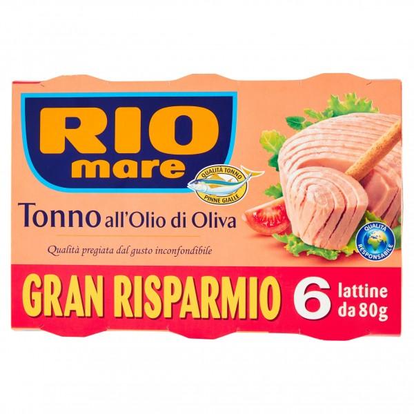 RIO MARE TONNO OLIO D'OLIVA 6 PER 80 GR WWF