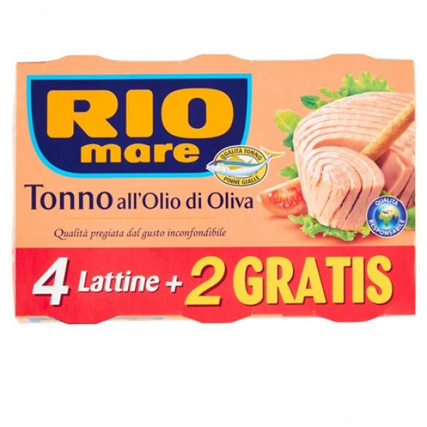 RIO MARE TONNO 0LIO D'0LIVA GR 80 PER 4 PIU'2