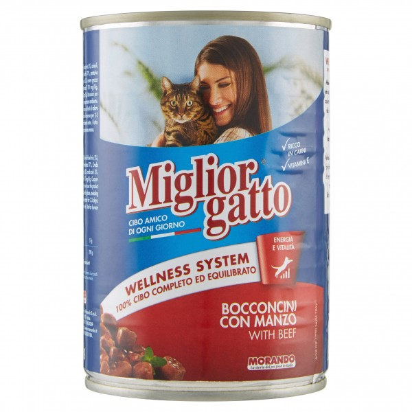 MIGLIOR GATTO BOC.400GR MANZO