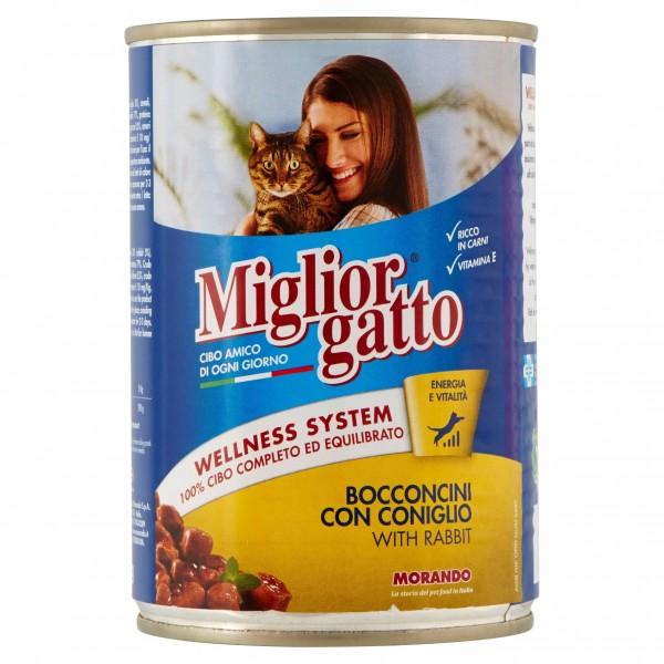 MIGLIOR GATTO BOCCONCINI CONIGLIO 400 GR