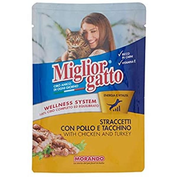 MIGLIOR GATTO STRACCETTI 100GR POLLO/TAC