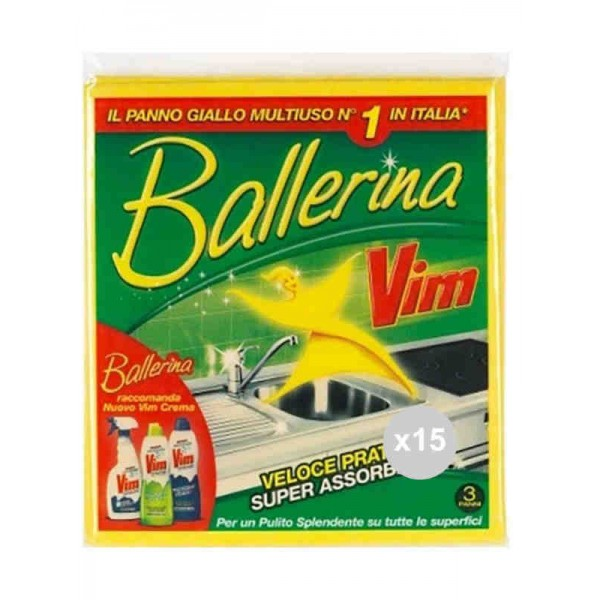 BALLERINA PANNO GIALLO 3PZ
