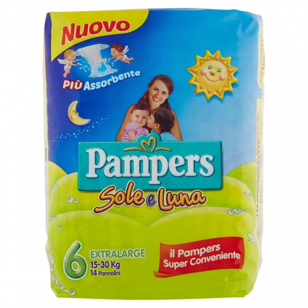 PAMPERS SOLE&LUNAEX.LARG.X14