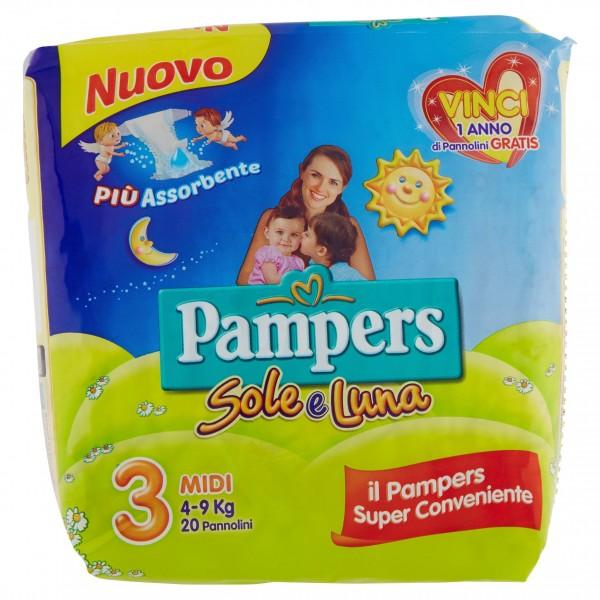 PAMPERS SOLE&LUNAMIDI X 20