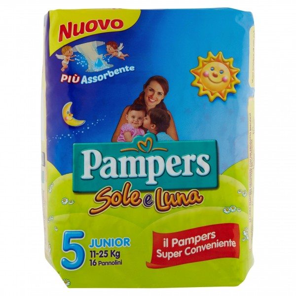 PAMPERS SOLE&LUNAJUNIOR X 16