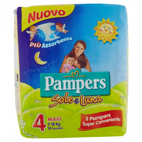 PAMPERS SOLE&LUNAMAXI X 18