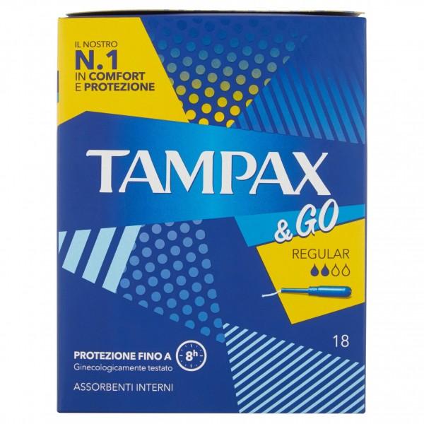 TAMPAX & GO REGULAR CONFEZIONE DA 18