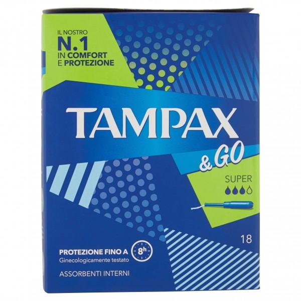 TAMPAX & GO SUPER CONFEZIONE DA 18