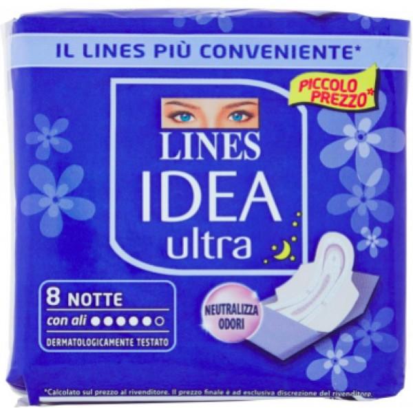 LINES IDEA ULTRA NOTTE ALI CONFEZIONE DA  8