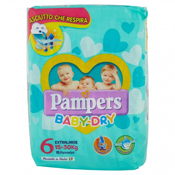 PAMPERS BABY DRY EX.LARGE15/30