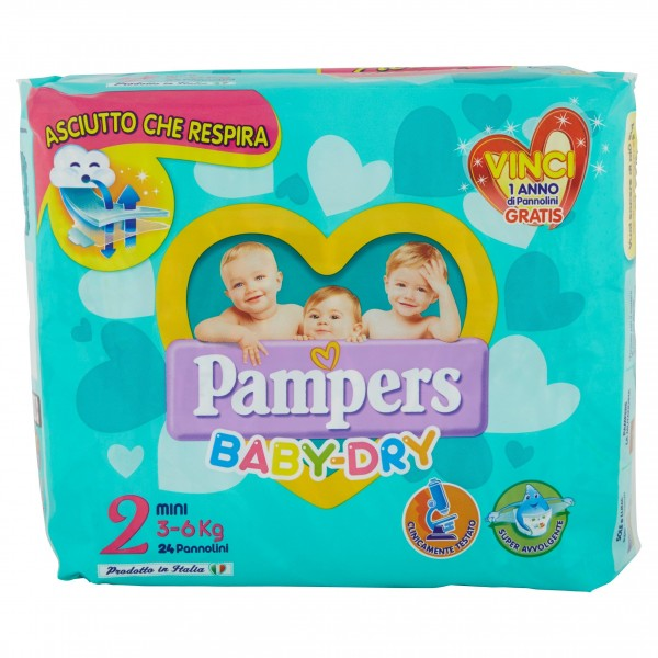 PAMPERS BABY DRY MINI 3/6kg