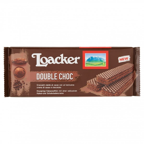 LOACKER WAFER DOUBLE CHOCOLATE 175 GR