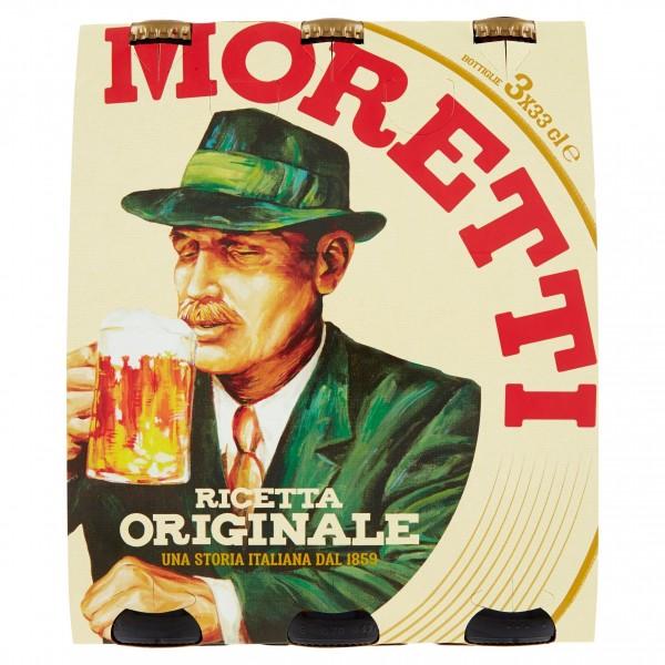 MORETTI BIRRA 3 BOTTIGLIE DA 33 CL