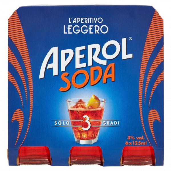 APEROL SODA CONFEZIONE DA 6 ML 125