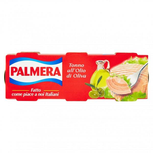 PALMERA TONNO OLIO D'OLIVA CONFEZIONE DA 3 PER 80 GR