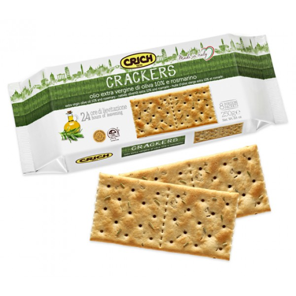 CRICH CRACKERS ROSMARINO 250G#