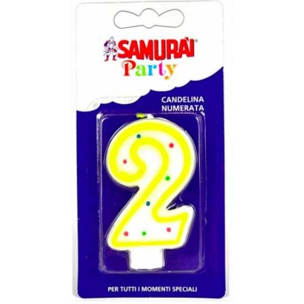 SAMURAI PARTY CANDELA NUMERO 2