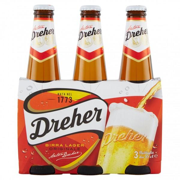 DREHER BIRRA 3 BOTTIGLIE 33 CL