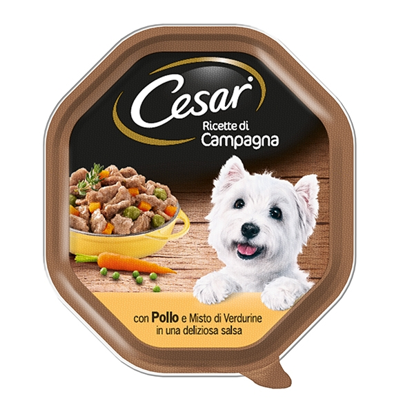 CESAR PATE'V.150GR POLLO/VER/S