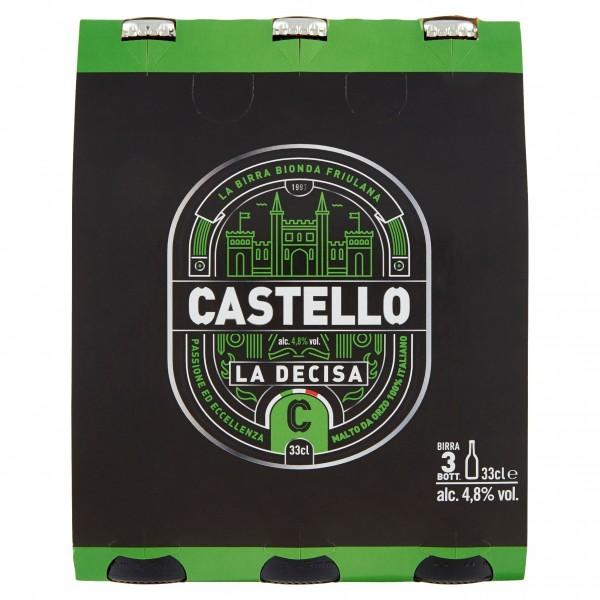 CASTELLO BIRRA LA DECISA 3 BOTTIGLIE DA 33 CL