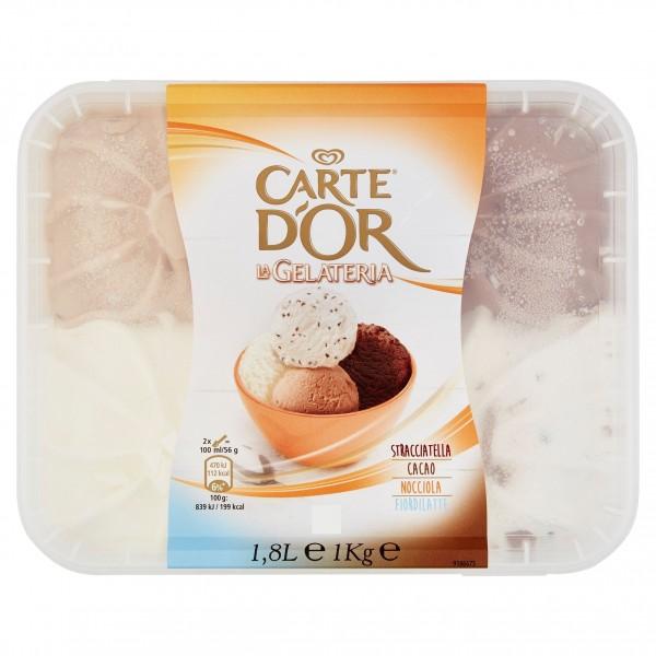 CARTE D'OR KG.1 STRACCIATELLA/CACAO/NOCCIOLA/FIOR DI LATTE