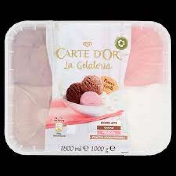 CARTE D'OR CACAO-FRAGOLA-GIANDUIA KG1