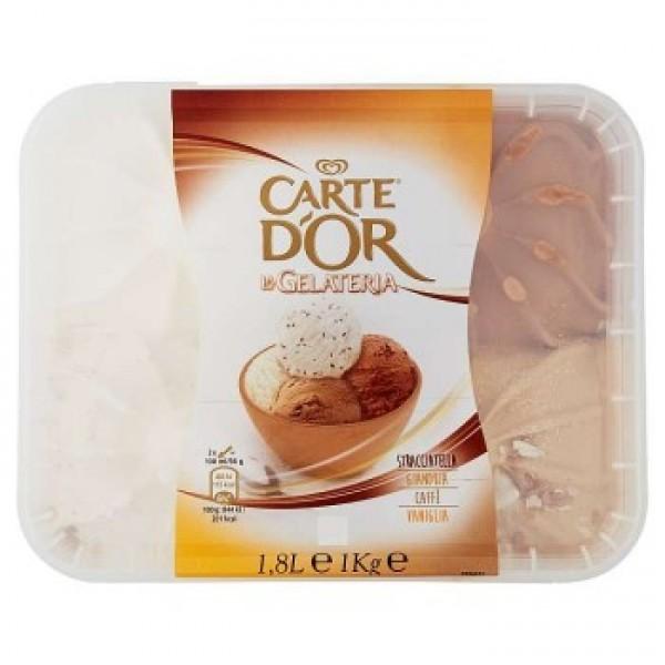 CART D'OR STRACCIATELLA-CIOCCOLATO BIANCO-CAFFE'-VANIGLIA KG 1