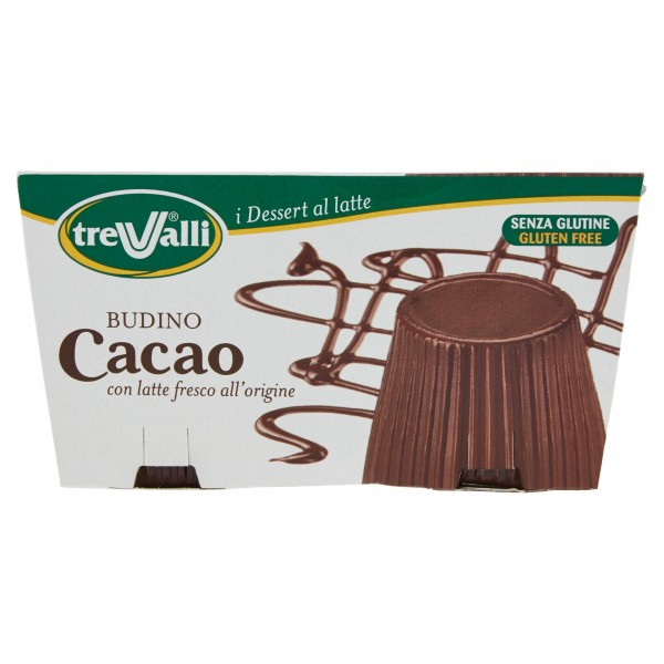 TRE VALLI BUDINO CACAO 100 gX2