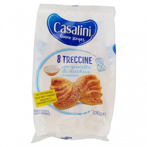 CASALINI TRECCINA ZUCCHERATA CONFEZIONE DA 8