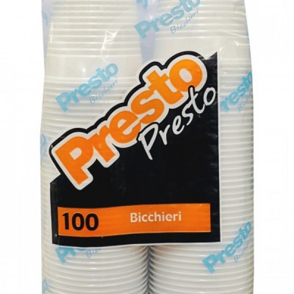 PRESTO BICCH.CAFFE'80CC X 100P