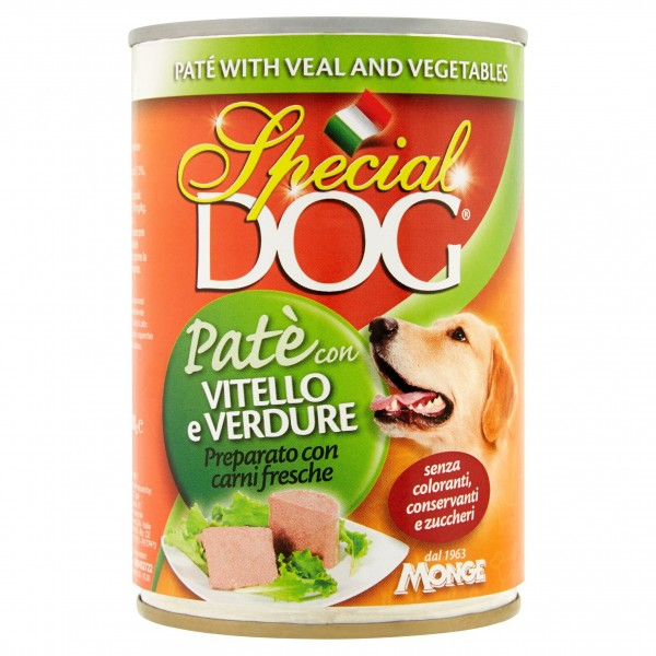 SPECIAL DOG PATE'400GR VIT/VER
