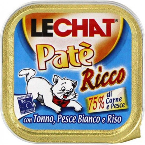 LECHAT PATE'100GR TONNO/PES/RI