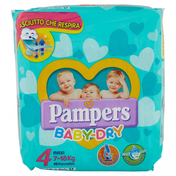 PAMPERS BABY DRY MAXI 7/18kg