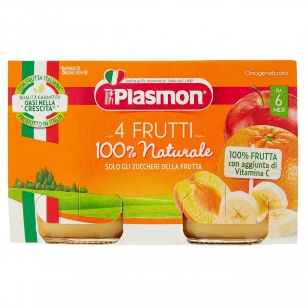 PLASMON OMO 4 FRUTTI GR104X2