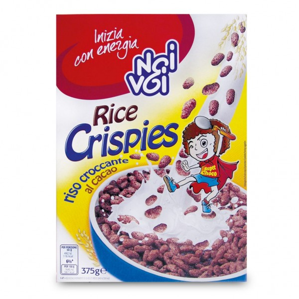 NOI E VOI RICE CRISPIES CIOCCOLATO 375 GR