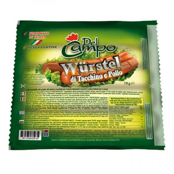 DEL CAMPO WURSTEL POLLO 1 kg